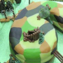 Army battle field cake
