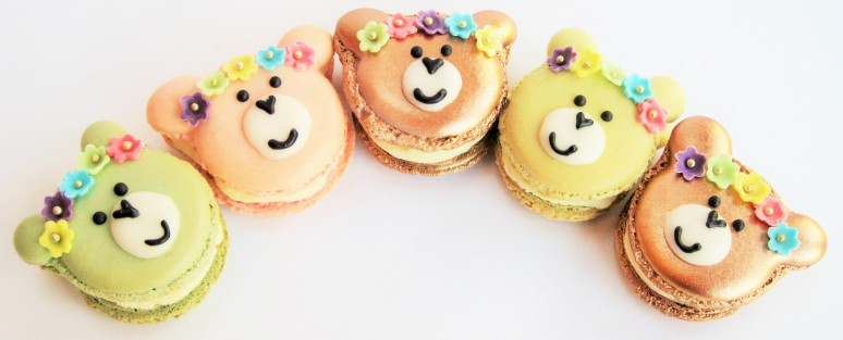 Teddy Bear French Macaroons - Ideal for sharing with someone special