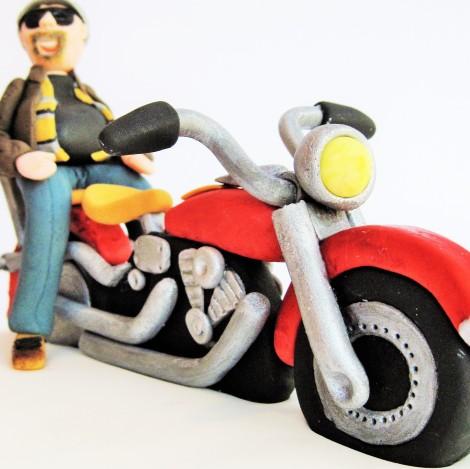 Fondant motorbike & rider