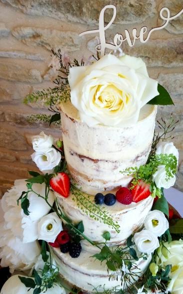 Naked Wedding Cake Detail